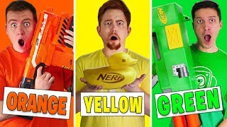 Using Only ONE Color in ULTIMATE Nerf MYSTERY BOX Challenge!