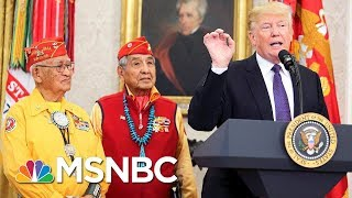 Navajo President: Donald Trump's 'Pocahontas' Comment Was 'Inappropriate' | Velshi & Ruhle | MSNBC