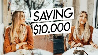 how to save $10,000 from scratch | budgeting, personal finances, and saving in college!