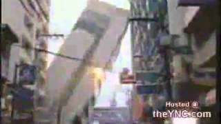 Building down after earthquake in Philippines