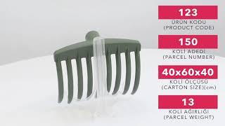 Plastic Olive Comb - 9 Teeth / 7 Teeth