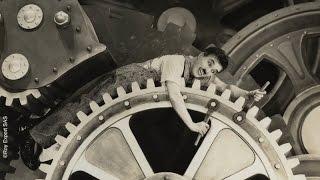 Charlie Chaplin Swallowed by a Factory Machine - Modern Times (1936)