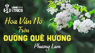 Hoa Vẫn Nở Trên Đường Quê Hương | Phương Lam | Karaoke