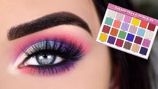 JEFFREE STAR JAWBREAKER EYESHADOW PALETTE | Pastel Eye Makeup Tutorial