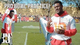 JuJu Mic'd Up at Pro Bowl Practice! Ft: Tfue, Magicians, More!