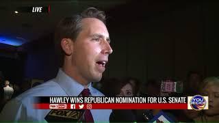Josh Hawley wins Republican primary for US Senate