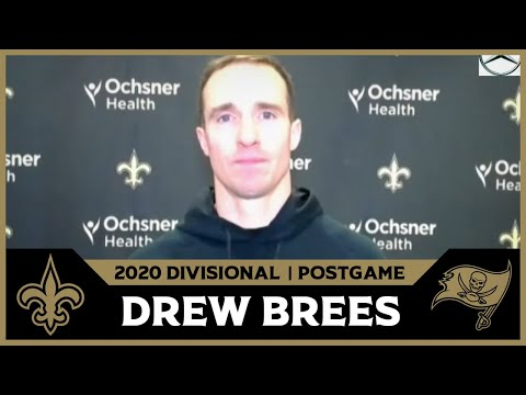 Drew Brees on Playoff Loss, Future | Saints-Bucs Postgame
