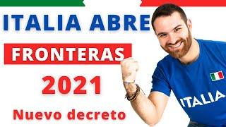 ITALIA ABRE FRONTERAS al turismo 2021 ¿Cuáles países?