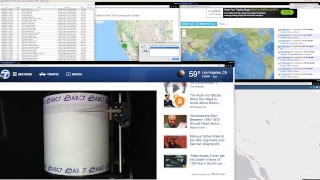 Lossy  ABC7 Seismograph drum for Los Angeles rewind