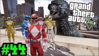 Quái Vật Godzilla Đại Chiến 5 Anh Em Siêu Nhân | Big Bang | GTA 5 Mods - Tập 44