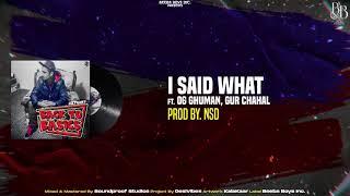 I Said What – Sultaan Ft OG Ghuman – GurChahal Video HD