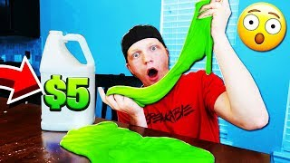 HOW TO MAKE SLIME FOR ONLY $5! BEST DYI SLIME!