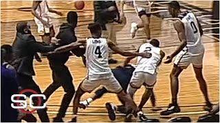 A brawl breaks out during handshakes between Jackson State and Prairie View A&M | SportsCenter