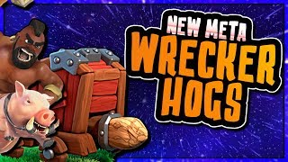 NEW META HOG ATTACKS USING THE WALL WRECKER at TH10 | Clash of Clans