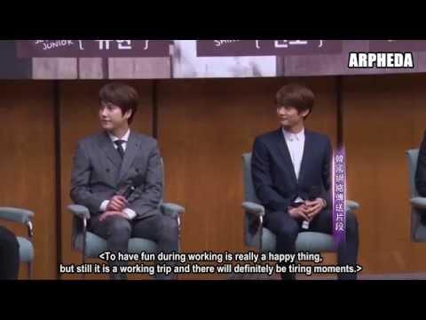 [ENG SUB] 150412 Minho, Kyuhyun, Suho, Jonghyun & Sunggyu 'Fluttering India' Press Conference