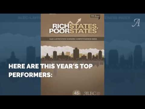 Rich States, Poor States ranks state economic outlook based on 15 key variables. See what states topped the 2018 list. Find out more at www.RichStatesPoorStates.org