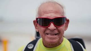 Kiteboarding for all ages.The 77 Years Old Kite Surfer!