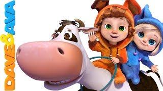 🐮 Nursery Rhymes & Farm Animals Songs | Nursery Rhymes and Baby Songs from Dave and Ava 🐓