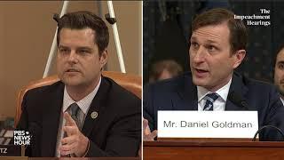 WATCH: Rep. Matt Gaetz's full questioning of committee lawyers | Trump impeachment hearings