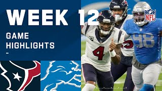 Texans vs. Lions Week 12 Highlights | NFL 2020
