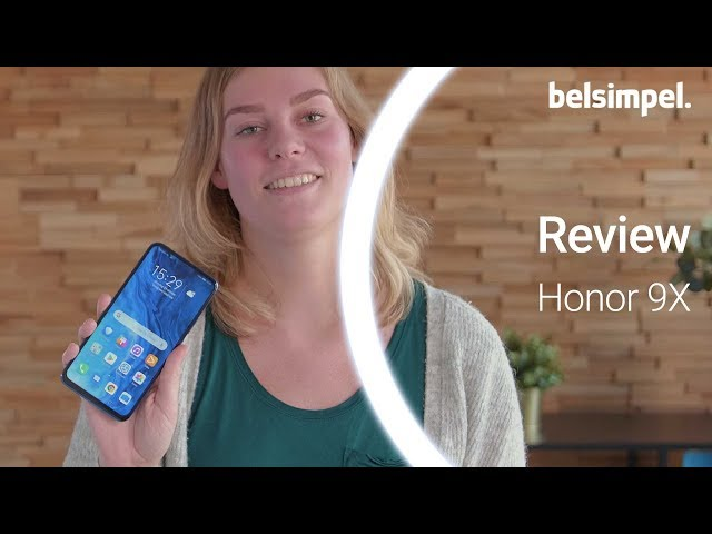 Belsimpel-productvideo voor de Honor 9X 128GB Blue