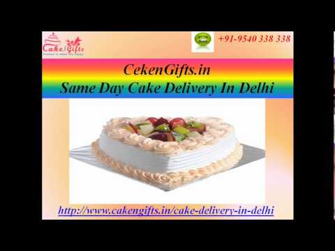 Send Cake on the same day in Delhi with the help of  CakenGifts.in