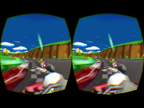 Mario Kart wii running in first person on Oculus Rift DK 2