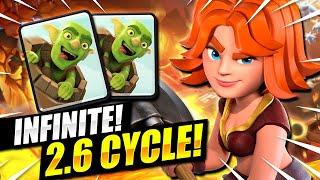 INFINITE SWARM!! NEW 2.6 GOBLIN BARREL CYCLE IN CLASH ROYALE!!