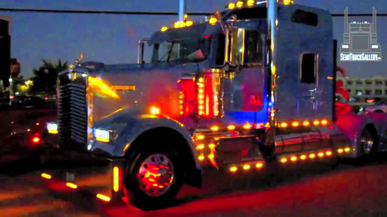 Kenworth Semi Truck Showing Lights Semitruckgallery Com
