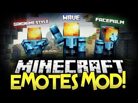 Baixar ★ Minecraft Mod ★ | EMOTES MOD • (Gangnam Style, Wave, Levitate, Exorcist) - Minecraft Mod Showcase