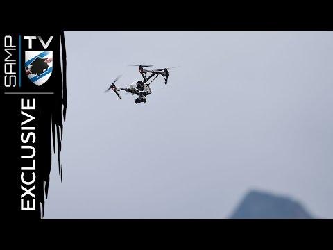 In volo con il drone blucerchiato