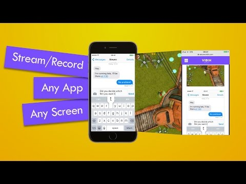 Vidih is the only way to record and live stream your screen directly from your iOS device.