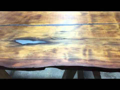 Ancient Kauri polished for a wall-hung piece!