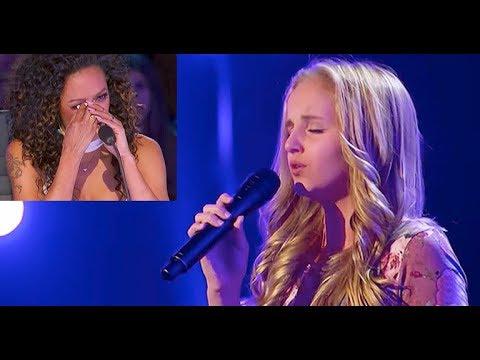 [Eng-Vietsub] Evie Clar: cảm động về cô bé đi thi để hát tặng người ba ung thư America's GT (Vòng 2)