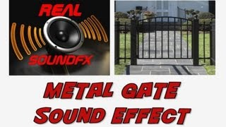 Metal squeaky gate opening then closing sound effect - realsoundFX