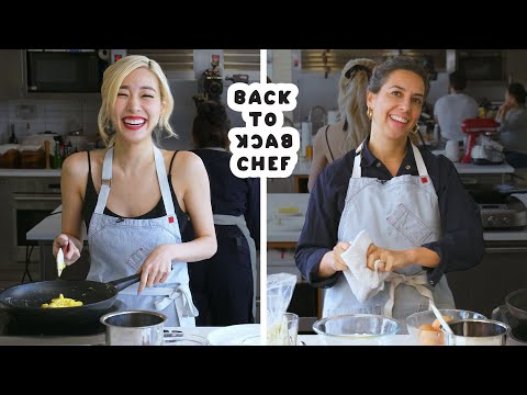 Tiffany Young Tries to Keep Up with a Professional Chef | Back-to-Back Chef | Bon Appétit