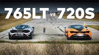765LT vs 720S // Ultimate McLaren Drag and Roll Race!