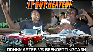 DONKMASTER VS BEENGETTINGCASH SHUT DOWN THE TRACK! Clash of the Titans 3 Donk Grudge Race
