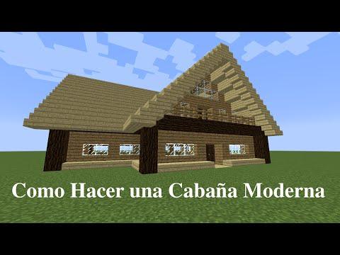 Minecraft como hacer una caba a moderna de madera musica - Como hacer una cabana de madera ...