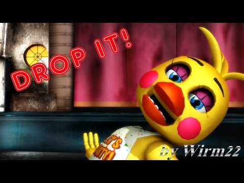 Chica 4 01 mmd fnaf toy chica drop it smashing