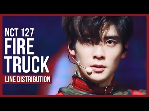 NCT 127 - Fire Truck Line Distribution (Color Coded)
