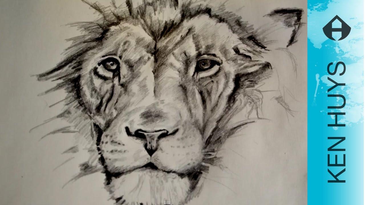 how to draw a hoe teken je een leeuw