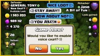 IF CLASH OF CLANS HAD VOICE CHAT