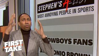 Stephen A.'s list: Top 5 most annoying people in sports | First Take