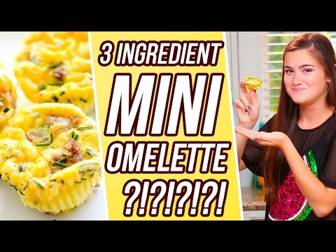 3 Ingredient Mini Omelette?! | 3 Items Or Less w/ CloeCouture!