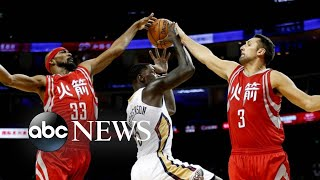 NBA commissioner weighs in on China, Hong Kong controversy l ABC News