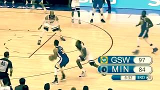 Stephen Curry's NO LOOK 3 Pointer vs. T-Wolves!