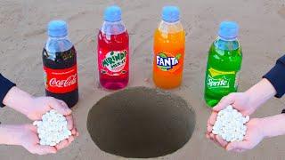 Experiment: Coca Cola vs Mentos ! Volcanic eruptions