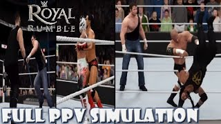 WWE 2K16 SIMULATION: Royal Rumble 2016 (Full PPV) Highlights