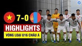 Highlights Việt Nam 7-0 Mông Cổ | U16 VN hóa rồng hành hạ đối thủ Đông Á không thương tiếc | U16 AFC
